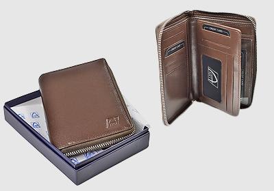 portfel skórzany damski TSPF 296  <br/> wymiary  14 x 9,5cm