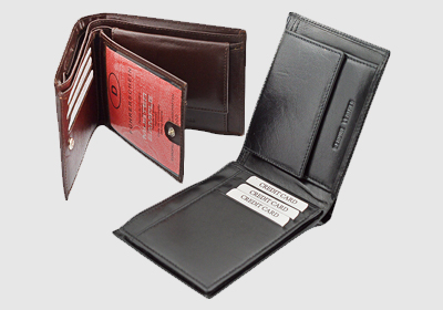 portfel skórzany męski TSHC 3329 <br/> wymiary 12 x 9,5 cm