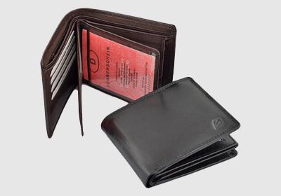 portfel skórzany męski TSHC 3346/04/036BZ  <br/>wymiary 12 x 10 cm