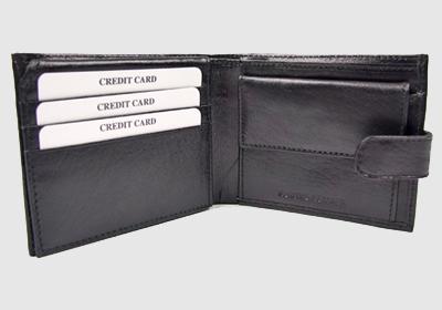 portfel skórzany męski TSHC 3495 <br/> wymiary 11 x 9 cm