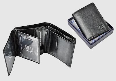 mały portfel skórzany unisex TSPF 39 <br/>  wymiary 8,5 x 10,5cm
