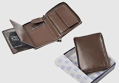 portfel skórzany męski TSPF 392  <br/>wymiary 9,5 x 12,5cm
