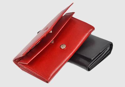 portfel skórzany damski TSHC 4145/pd23010 <br/> wymiary  8 x 16,5 cm