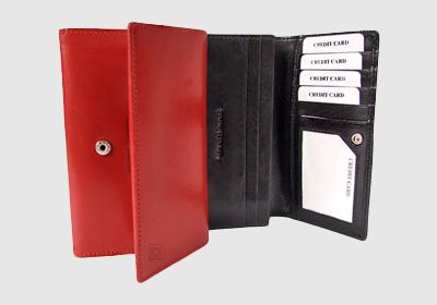 portfel skórzany damski TSHC 787  <br/>wymiary 15,5 x 9,5 cm